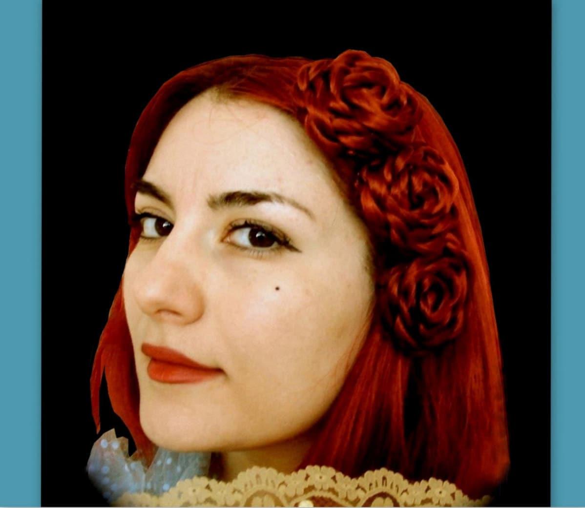 Victorian Style Wedding Hair: Victorian Rose Wedding Hair Style Bridal Hair Custom Handmade