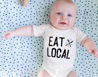 Organic Baby Foodie Onesie - Eat Local, Ready to Ship