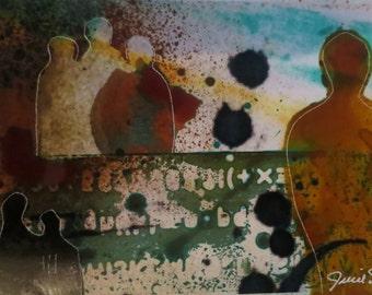 modern contemporary Urban Art Original Abstract Series