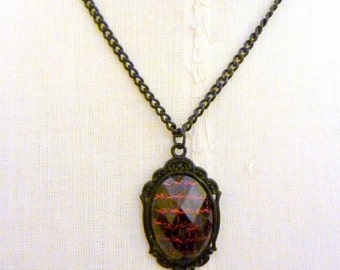 Black and Red Snakeskin Necklace Gothic Lolita Pendant by I am Joolienn Halloween