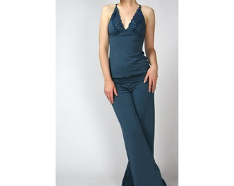womens bamboo pants - GEM sleepwear range - made to order