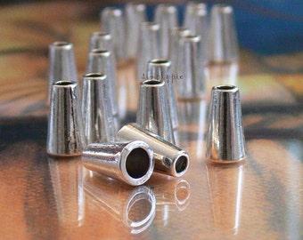 Antiqued Silver Metal Bead Cones 6x10mm - 16