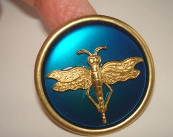 Dragonfly Royal Blue Animal Brooch