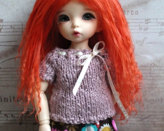 Natural Carrot mohair wig for Littlefee / other YoSD sized / Unoa / Enyo doll