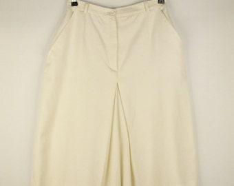 Vintage white culottes pants skirt