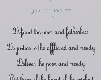 Psalm 82 Invitation to Action