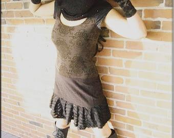 Neck Scarf - Black - Hooded Cowl - Circular Scarf - Winter - Bohemian - Gypsy - Bohemian - Retro - Designer Clothing - Handmade - One Size