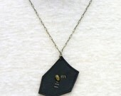 Necklace with Leather Pendant (siete)