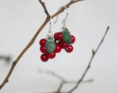 holiday berry earrings . winterberry