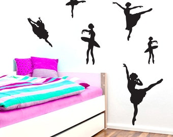 Set Of Ballerinas - Nursery and Kid's Room Wall Decals