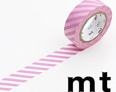 Stripe Pink, Japanese mt Washi Paper Masking Tape, Kawaii Card Decoration, Gift Wrapping, Planner Decoration, Journal, Diary Deco,  MT01D147
