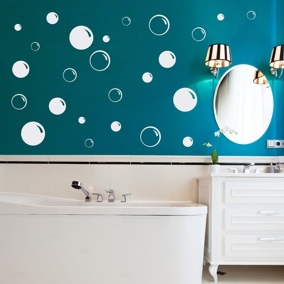 Bathroom Wall Art Bubbles : Bubbles wall decal bubble bathroom soap