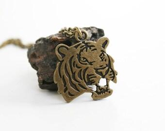 Tiger Necklace / Tiger Head Necklace