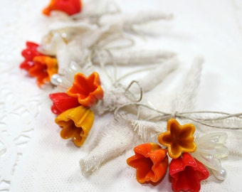 Rustic boutonniere, Mens wedding boutonnieres, Rustic flowers boutonniere  - Set of 4