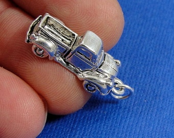 Pickup Truck Charm - Silver Plated Pickup Truck Charm for Necklace or Bracelet