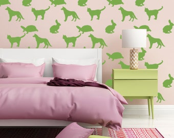 Animal Wall Decal, Animal Decals, Veterinary Gift, Animal Nursery Decor, Nursery Wall Decal, Animal Wall Decor, Animal Wall Art