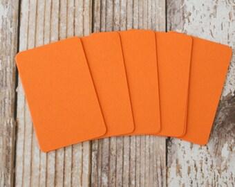 50pc Bright ORANGE Lakeland Series Business Card Blanks