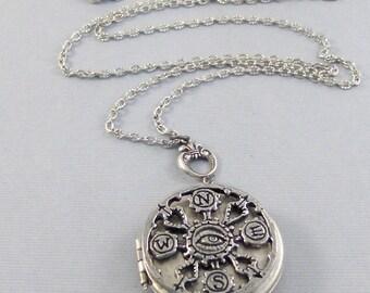 Eye Compass,Evil Eye,Eye,Talisman,Silver Locket,Locket, Antique Locket,Compass,Victorian Locket,Buddha,Spiritual,Mantra, valleygirldesigns.
