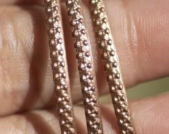 Wire Flowers Pattern Stock Shank 2.6mm Textured Metal Wire - Rings Bracelets Pendants Metalwork Variety Metals
