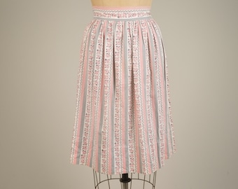 1960s novelty print skirt • vintage 60s skirt • floral full skirt