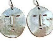Silver Eskimo Mask Earrings