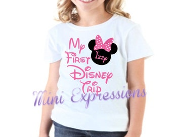 My First Disney Trip Shirt or onesie Personalized just for your