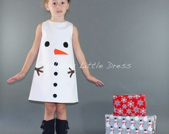 Snowman Dress for Girls.