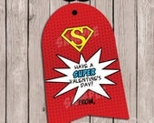 "INSTANT DOWNLOAD ""You Are SUPER"" Superhero Valentines Lollipop Cards -Digital/Printable - diy - Superhero Capes - Superhero Masks - Suckers"