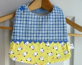 Baby Bib 100% cotton, printed quality and lined with terry cotton, 3 months to 1 year