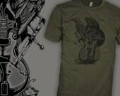 The Black Crowes Shirt - Gibson Les Paul Blues Guitar - Black Crow Rock T-Shirt - FREE SHIPPING