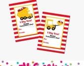 Printable I Dig You Valentines Day Card - School Valentines Day Card - Construction Valentines - Dump Truck Valentines - Boy Valentine