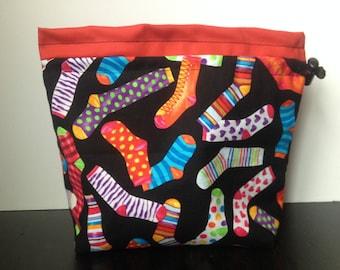Bright Socks Knitting Bag