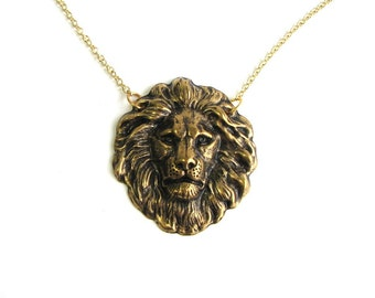 golden lion necklace - it just takes a little courage