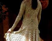 Bohemian Chic Bridal Sweater, OOAK Design, Gypsy, Elegant, Romantic, Alternative Bridal Wear