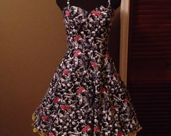 Walking Dead Dress - vintage style! custom sizes