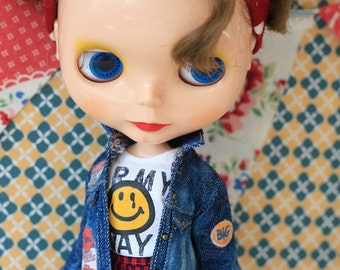 Sugarbabylove - Denim Jacket set for Blythe