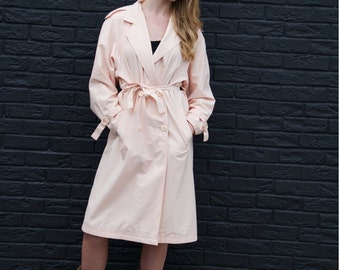 Peach Promise, French Vintage, Dusty Peach Trench Parka Coat