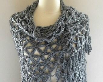 PDF Pattern Crochet Shawl Wrap Women Petals in the Wind Shawl Beautiful Fringe