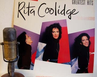 """ON SALE Rita Coolidge Vintage Vinyl Lp Record Album 1970s Pop Rock Country Ballads """"Greatest Hits""""(1980 A&M Records w/""""Higher And Higher"""")"""