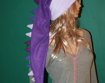 Dragon Hat Purple Shades Long Snowboarding Dinosaur Tail Hat Fleece Winter Ski
