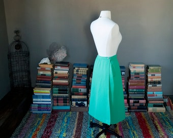 Vintage grass GREEN WRAP SKIRT