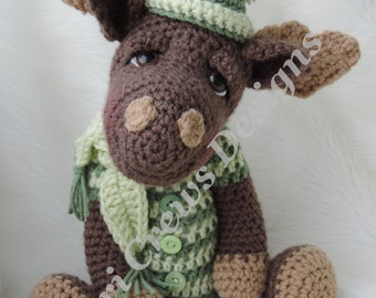 Moose Crochet Pattern Instant Download PDF format Simply Cute Moose by Teri Crews
