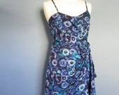 Cocktail Dress, Formal Dress, Blue Floral Dress, Prom Dress, Evening Dress
