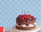Black Forest Cake 1/12 scale dollhouse miniature