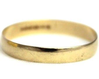 Vintage 9k Gold Wedding Band Ring 9kt 9ct 9 Carat 375 Jewellery - Size P.5 / 8