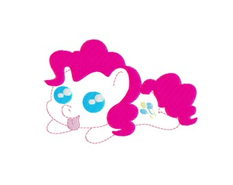 EMBROIDERY FILES: Chibi Pinkie Pie Feltie Applique - Embroidery Machine Design