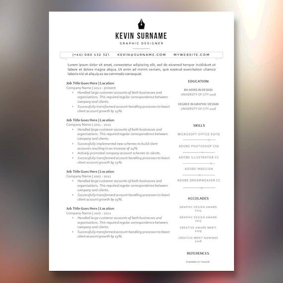 sleek and modern branded resume cv template the by cvwarehouse