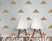 Medium Triangle Wall Decals, Geometric Wall Design, Customize Nursery and Interior Walls WAL-GEO4