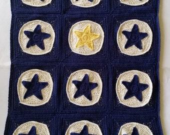 US Terms Star Light Star Bright Blanket Crochet Pattern
