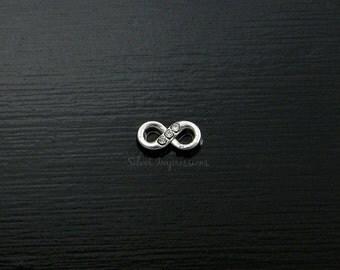 Infinity Locket Charm / Floating Locket Charm / Glass Locket Charm